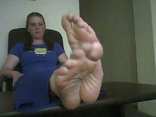 큰 섹시한 발 포즈