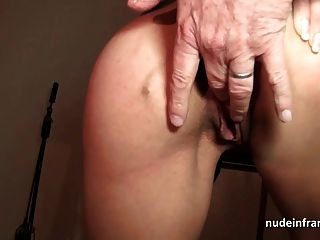 프랑스 엄마가 항문 섹스와 3way facialized