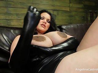 큰 안젤리나 카스트로 자지를 지배!
