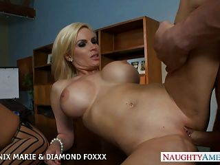블로즈 피닉스 마리와 다이아몬드 foxxx 섹스 foursome에