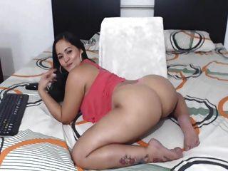 섹시한 콜롬비아 latina 완벽 좋은 엉덩이!