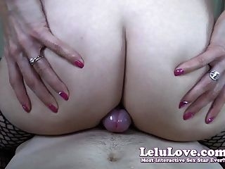 lelu love cameltoe와 엉덩이 뺨을 미끄러 져 내뿜기