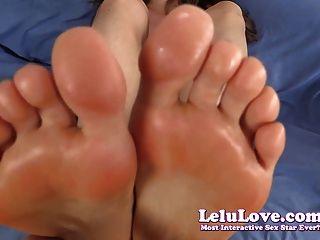 lelu 사랑 토플리스 pov footjob cum on solees