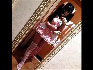 큰 전리품 일본 소녀 rin 히구라시