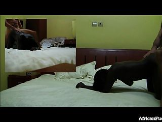 뜨거운 아프리카 여자와 호텔 섹스!
