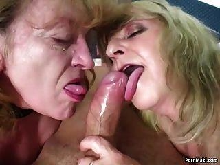 행운의 사람은 2 개의 놀라운 할머니를 엿 먹인다.