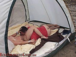 콜로라도 캠핑 섹스 파트 3 foreplay and fucking