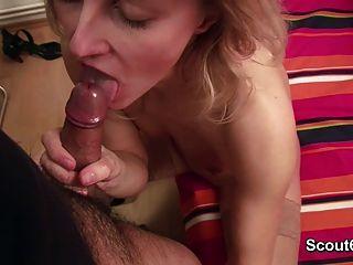 그녀의 단계 아들과 함께 privat 섹스 테이프에 독일어 어머니