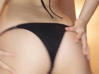 fumina 춤 검은 레이스 비키니 (비 누드)