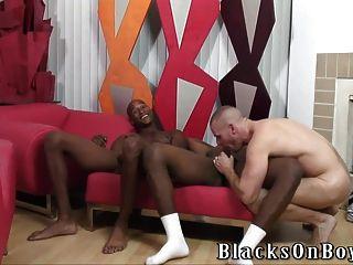 검은 도둑들과 공유하는 근육질의 흰색 스터드