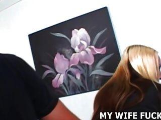 너의 아내는 낯선 사람에게서 심한 두드림을 필요로한다.