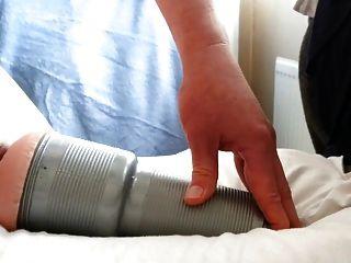 fleshlight를 이용한 멀티 오르가즘 훈련.정액 3 회