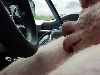 도로의 측면에 빠른 부하.