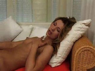 섹시한 금발 스타킹
