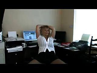 사무실의 여동생 팬티 스타킹 스트립과 자위