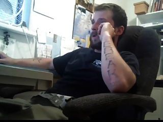 그의 사무실에서 str8 아빠 스트로크