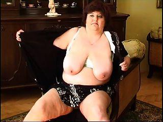 뚱뚱한 할머니 자위 2