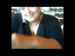 흥분 지방 bbw 동료 나 그녀의 큰 가슴을 보여주는