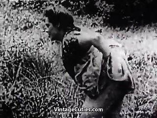 녹색 초원에서 하드 섹스 (1930 년대 빈티지)