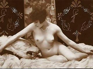 빈티지 누드 핀 업 사진 c. 1900 년