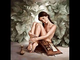 조니 palacios hidalgo의 초현실적 인 에로틱 관능적 인 예술