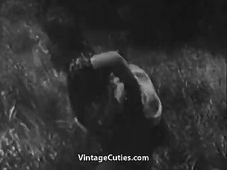 거친 섹스에 녹색 초원 (1930 년대 빈티지)