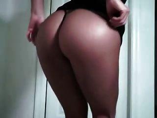 웹캠에 단단한 엉덩이