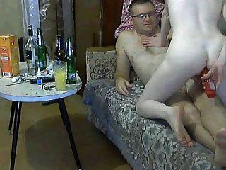러시아 커플 재미를하려고