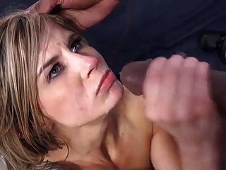 클로이 카오스는 bbc에 의해 그녀의 얼굴을 정액으로 가득 채운다.