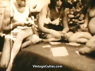 십대 스윙 어가 스트립 포커와 섹스 (1960 년대 빈티지)