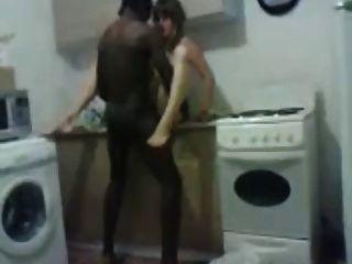 러시아 아내가 흑인과 백인 자지를 좋아한다!