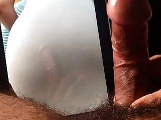 큰 엉덩이 라틴 girs 엉덩이에 대한 나의 정액 공물