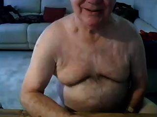할아버지 치기 및 캠에 보여주기