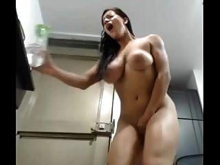 뜨거운 여자 웹 캠 떨림 오르가즘 !!