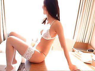 risa 흰색 란제리 허벅지 높은 팬티 스타킹 (비 누드)