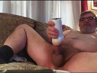 아빠의 엉덩이 놀이 및 정액
