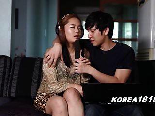 화려한 한국 소녀 유혹