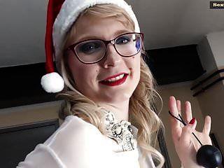 호화로운 casey가있는 메리 크리스마스