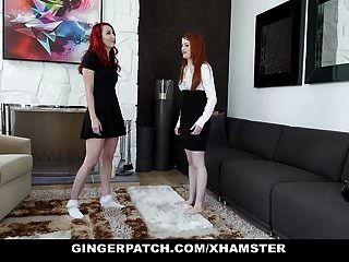진저 빨간 머리 단계 딸과 새엄마가 각각의 오트