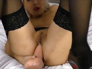 큰 딜도 힐 하이힐 (helena moeller)의 항문 섹스