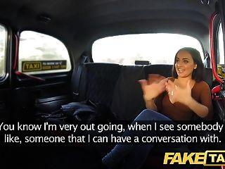 뜨거운 음부 택시 오르가슴을 외치는 가짜 택시 분출
