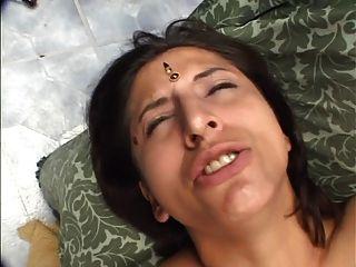 삼인조의 하드 코어 인도 빌어 먹을 성숙한 풋내기 음모