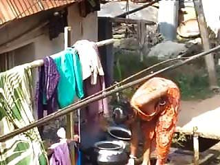 마을 목욕탕 야외 입욕