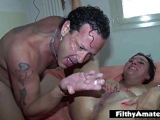엉덩이에 코카인과 화장실에 머리! 격렬한 난교!