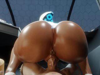 전리품 큰 가슴 엉덩이 엉덩이 (3d 헨타이)