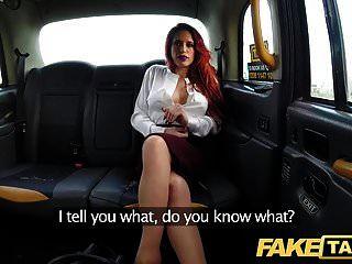 가짜 택시 야생의 택시에서 개인적인 거대한 빨간 머리 조련사