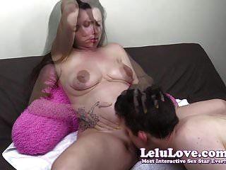 lelu는 임신 한 음부를 먹고 pov creampie를 먹는다.