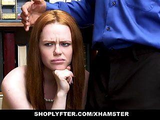 shoplyfter 빨간 머리 사춘기 무역 체포에 대한 섹스
