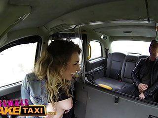 여성 가짜 택시 프랑스 사람은 목구멍 빌어 먹을 준다